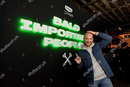 Stock Picture of Sean Evans attends the Schick Xtreme: Baldest Party Ever during New York Fashion Week, in New York