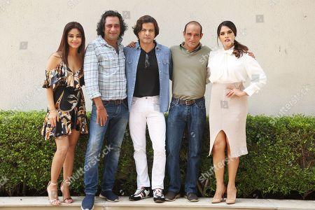 Stock Picture of Bollywood actors Meera Chopra, Akshaye Khanna, Rahul Bhat, Richa Chadda and director Ajay Bahl
