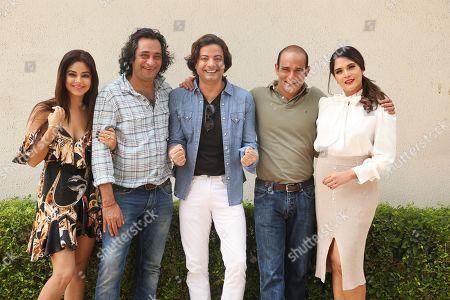 Stock Image of Bollywood actors Meera Chopra, Akshaye Khanna, Rahul Bhat, Richa Chadda and director Ajay Bahl