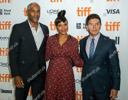 Stock Image of LaMonica Garrett, Nigerian-American director Chinonye Chukwu and US actor and cast member Alex Castillo arrive for the premiere of the movie Clemency during the 44th annual Toronto International Film Festival (TIFF) in Toronto, Canada, 13 September 2019. The festival runs from the 05 September to 15 September 2019.
