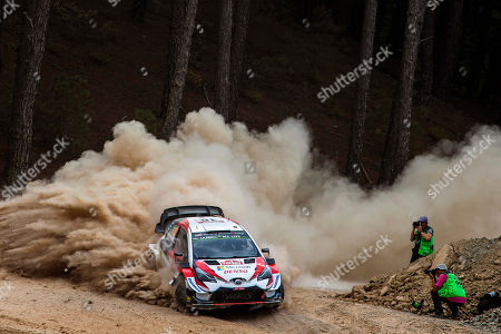 Jari-Matti Latvala of Finland drives his Toyota Yaris WRC during the Rally Turkey 2019 as part of the World Rally Championship (WRC) near Marmaris, Turkey, 13 September 2019.