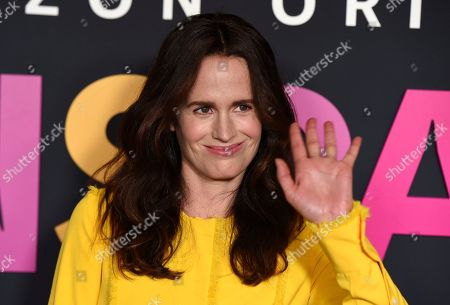 """Elizabeth Reaser poses at the premiere of the Amazon Prime Video movie """"Transparent Musicale Finale"""" at the Regal Cinemas L.A. Live, in Los Angeles"""