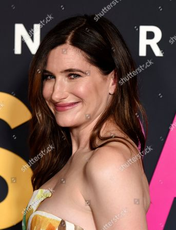 """Kathryn Hahn poses at the premiere of the Amazon Prime Video movie """"Transparent Musicale Finale"""" at the Regal Cinemas L.A. Live, in Los Angeles"""
