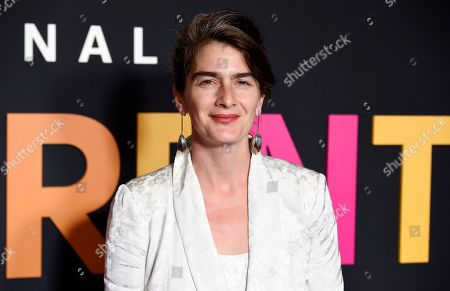 """Gaby Hoffmann poses at the premiere of the Amazon Prime Video movie """"Transparent Musicale Finale"""" at the Regal Cinemas L.A. Live, in Los Angeles"""