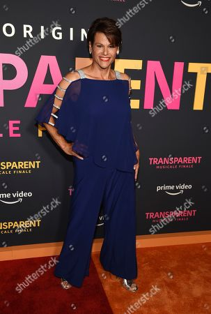 """Alexandra Billings poses at the premiere of the Amazon Prime Video movie """"Transparent Musicale Finale"""" at the Regal Cinemas L.A. Live, in Los Angeles"""