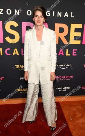 "Gaby Hoffmann poses at the premiere of the Amazon Prime Video movie ""Transparent Musicale Finale"" at the Regal Cinemas L.A. Live, in Los Angeles"