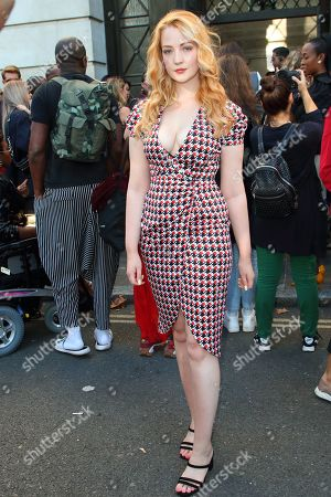 Victoria Clay leaves the Pam Hogg show