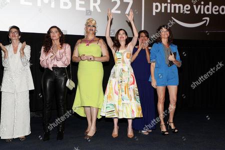 Gaby Hoffmann, Amy Landecker, Shakina Nayfack, Kathryn Hahn, Alexandra Billings and Amy Landecker