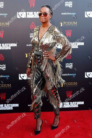 Stock Picture of Aisha Tyler arrives for the 45th annual Saturn Awards at The Avalon Hollywood in Los Angeles, California, USA, 13 September 2019. The Saturn Awards honors the best in science fiction, fantasy, horror and other genres in film, television, home media releases and theater.
