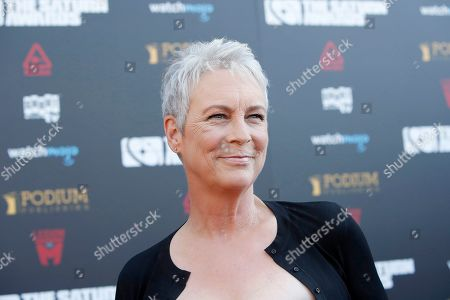 Jamie Lee Curtis arrives for the 45th annual Saturn Awards at The Avalon Hollywood in Los Angeles, California, USA, 13 September 2019. The Saturn Awards honors the best in science fiction, fantasy, horror and other genres in film, television, home media releases and theater.