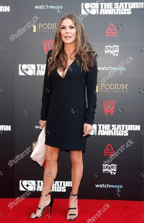 Paige Turco arrives for the 45th annual Saturn Awards at The Avalon Hollywood in Los Angeles, California, USA, 13 September 2019. The Saturn Awards honors the best in science fiction, fantasy, horror and other genres in film, television, home media releases and theater.