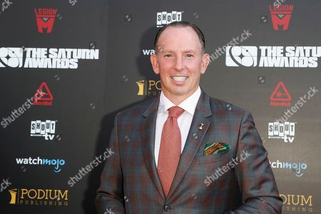 Stock Image of Justin Hochberg arrives for the 45th annual Saturn Awards at The Avalon Hollywood in Los Angeles, California, USA, 13 September 2019. The Saturn Awards honors the best in science fiction, fantasy, horror and other genres in film, television, home media releases and theater.