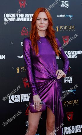 Stock Picture of Chloe Dykstra arrives for the 45th annual Saturn Awards at The Avalon Hollywood in Los Angeles, California, USA, 13 September 2019. The Saturn Awards honors the best in science fiction, fantasy, horror and other genres in film, television, home media releases and theater.
