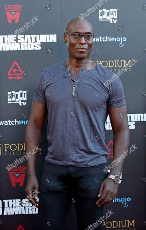 Stock Image of Lance Reddick arrives for the 45th annual Saturn Awards at The Avalon Hollywood in Los Angeles, California, USA, 13 September 2019. The Saturn Awards honors the best in science fiction, fantasy, horror and other genres in film, television, home media releases and theater.