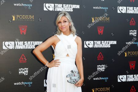 Stock Picture of Ashley Eckstein arrives for the 45th annual Saturn Awards at The Avalon Hollywood in Los Angeles, California, USA, 13 September 2019. The Saturn Awards honors the best in science fiction, fantasy, horror and other genres in film, television, home media releases and theater.
