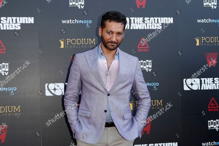 Cas Anvar arrives for the 45th annual Saturn Awards at The Avalon Hollywood in Los Angeles, California, USA, 13 September 2019. The Saturn Awards honors the best in science fiction, fantasy, horror and other genres in film, television, home media releases and theater.