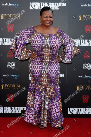Stock Image of Tonya Pinkins arrives for the 45th annual Saturn Awards at The Avalon Hollywood in Los Angeles, California, USA, 13 September 2019. The Saturn Awards honors the best in science fiction, fantasy, horror and other genres in film, television, home media releases and theater.