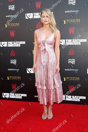 Melissa Benoist arrives for the 45th annual Saturn Awards at The Avalon Hollywood in Los Angeles, California, USA, 13 September 2019. The Saturn Awards honors the best in science fiction, fantasy, horror and other genres in film, television, home media releases and theater.