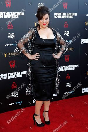 Jennifer Tilly arrives for the 45th annual Saturn Awards at The Avalon Hollywood in Los Angeles, California, USA, 13 September 2019. The Saturn Awards honors the best in science fiction, fantasy, horror and other genres in film, television, home media releases and theater.