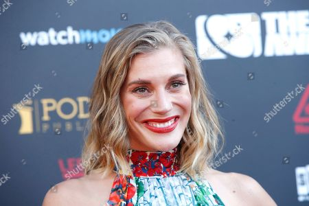 Katee Sackhoff arrives for the 45th annual Saturn Awards at The Avalon Hollywood in Los Angeles, California, USA, 13 September 2019. The Saturn Awards honors the best in science fiction, fantasy, horror and other genres in film, television, home media releases and theater.