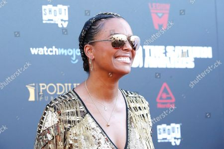 Aisha Tyler arrives for the 45th annual Saturn Awards at The Avalon Hollywood in Los Angeles, California, USA, 13 September 2019. The Saturn Awards honors the best in science fiction, fantasy, horror and other genres in film, television, home media releases and theater.