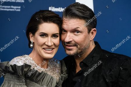 German actor Hardy Krueger Jr. (R) and his wife Alice arrive for the German Drama Award (Deutscher Schauspielpreis) ceremony in Berlin, Germany, 13 September 2019 (issued 14 September 2019).