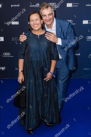 Stock Picture of Heinrich Schafmeister (R) and wife Jutta Schafmeister arrive for the German Drama Award (Deutscher Schauspielpreis) ceremony in Berlin, Germany, 13 September 2019 (issued 14 September 2019).