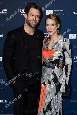 German actor Ken Duken (L) and his wife German actress Marisa Leonie Bach arrive for the German Drama Award (Deutscher Schauspielpreis) ceremony in Berlin, Germany, 13 September 2019 (issued 14 September 2019).