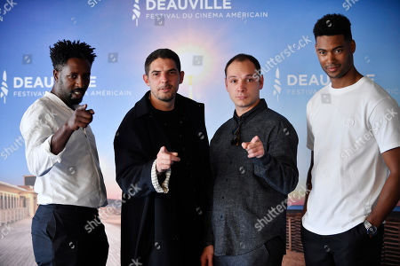 Ladj Ly, French actor Damien Bonnard, French actor Alexis Manenti and French actor Djebril Zonga pose for the photographers on the photocall for 'Les Miserables' during the 45th Deauville American Film Festival, in Deauville, France, 14 September 2019. The festival runs from 06 to 15 September.