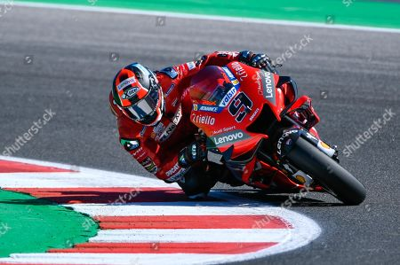 Italian MotoGP rider, number 9, Danilo Petrucci, of the Ducati Team in action during the free practice/qualifying session of the 2019 Motorcycling Grand Prix of San Marino and Riviera di Rimini at Misano Circuit in Misano Adriatico, Italy, 14 September 2019.