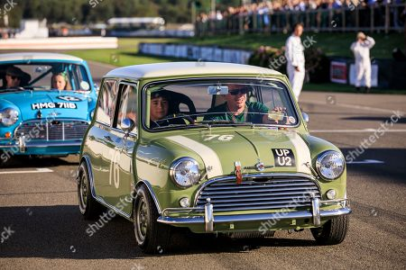 Billy Monger (green mini) he was critically injured when he was involved in a collision at Donington Park. Both of his legs were amputated.