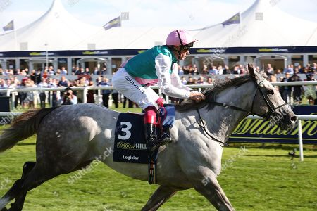 LOGICIAN (3) ridden by Frankie Dettori and trained by John Gosden winning The Group 1 William Hill St Leger Stakes over 1m 6f (£700,000) in a record time during the fourth and final day of the St Leger Festival at Doncaster Racecourse, Doncaster
