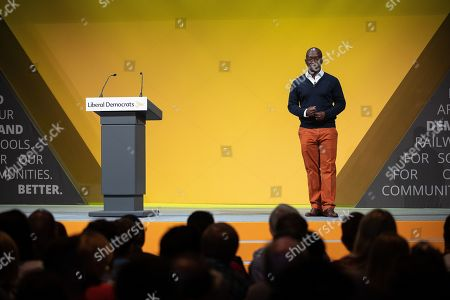 Former Conservative Party MP Sam Gyimah defects to the Lib Dems on the first day of the Liberal Democrat Party Conference
