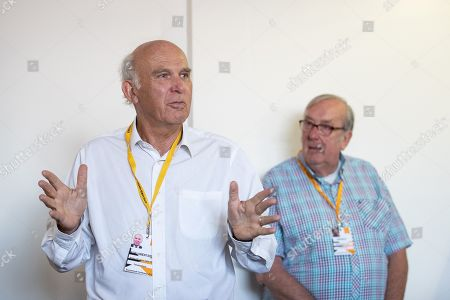 Sir Vince Cable speaks at a fringe event titled 'Brexit, the crisis of liberal democracy and the oportunity for the Lib Dems'