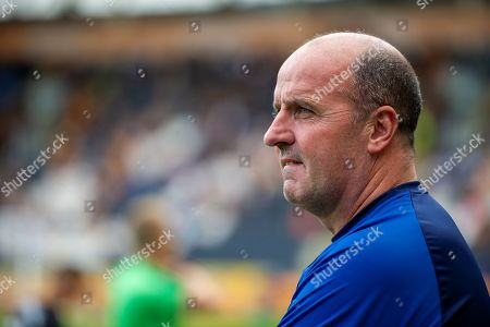 Wigan Athletic Manager Paul Cook during the EFL Sky Bet Championship match between Hull City and Wigan Athletic at the KCOM Stadium, Kingston upon Hull