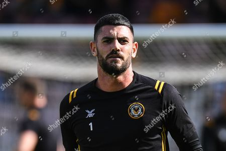 Newport County goalkeeper Tom King (1) during the EFL Sky Bet League 2 match between Northampton Town and Newport County at the PTS Academy Stadium, Northampton