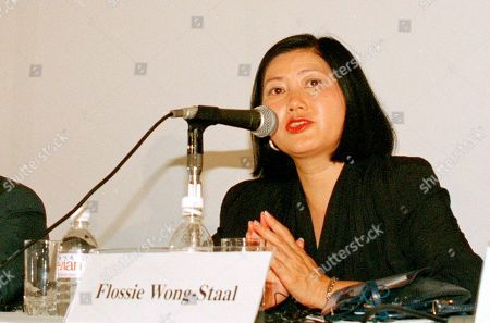 Flossie Wong-Staal, Mark A. Wainberg. In this Aug. 10, 1994 photo, Dr. Flossie Wong-Staal of the University of California in San Diego, addresses a session of the 10th International Conference on AIDS in Yokohama, Japan. Wong-Staal is among 10 people who will be inducted into the National Women's Hall of Fame during a ceremony on