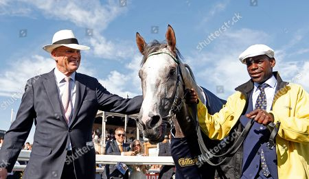 LOGICIAN with John Gosden after The William Hill St Leger Doncaster