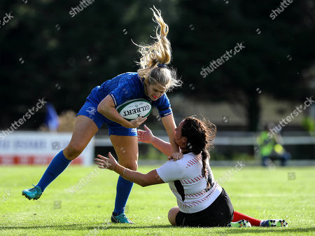 Munster Women vs Connacht Women. Leinster's Megan Williams and Stacey-Lea Kennedy of Ulster