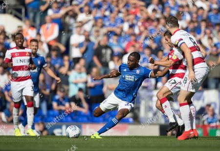 Kane Vincent-Young of Ipswich Town lays the ball forward during Ipswich Town vs Doncaster Rovers, Sky Bet EFL League 1 Football at Portman Road on 14th September 2019