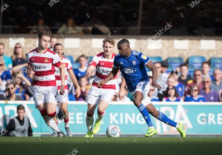 Kane Vincent-Young of Ipswich Town bursts forward during Ipswich Town vs Doncaster Rovers, Sky Bet EFL League 1 Football at Portman Road on 14th September 2019