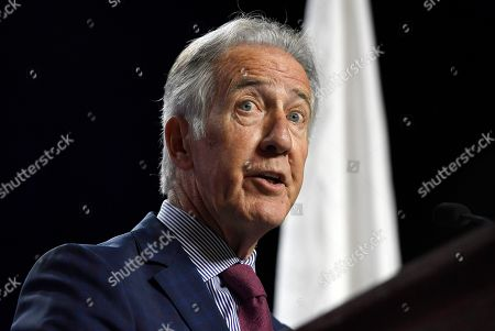 House Ways and Means Chairman, U.S. Rep. Richard Neal, speaks to delegates during the 2019 Massachusetts Democratic Party Convention, in Springfield, Mass. (AP Photo/Jessica Hill)House Ways and Means Chairman, U.S. Rep. Richard Neal, gestures to delegates during the 2019 Massachusetts Democratic Party Convention, Saturday, Sept. 14, 2019, in Springfield, Mass