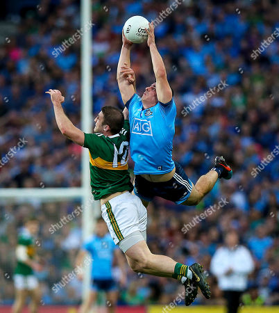 Dublin vs Kerry. Kerry's Stephen O'Brien with Brian Howard of Dublin