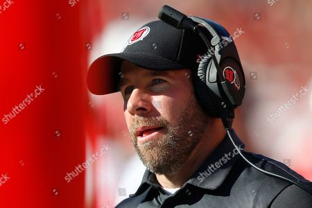 Utah defensive coordinator Morgan Scalley looks on in the second half of an NCAA college football game against Idaho State, in Salt Lake City