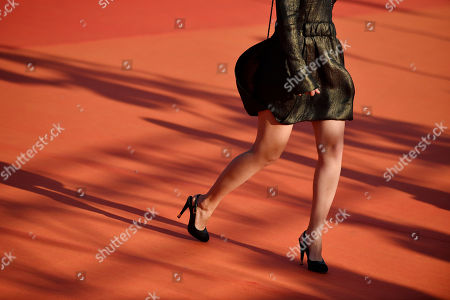 Diane Rouxel arrives on the red carpet prior to the premiere of 'Cuban Network' during the 45th Deauville American Film Festival, in Deauville, France, 14 September 2019. The festival runs from 06 to 15 September 2019.