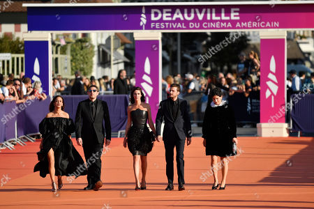 Alice Belaidi, Damien Bonnard, Anna Mouglalis, Romain Kolinka and Marie Louise Khondji arrives on the red carpet prior to the premiere of 'Cuban Network' during the 45th Deauville American Film Festival, in Deauville, France, 14 September 2019. The festival runs from 06 to 15 September 2019.