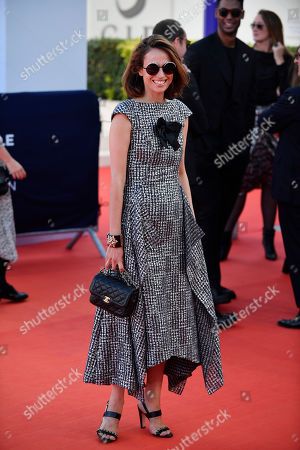 Anne Berest arrives on the red carpet prior to the premiere of 'Cuban Network' during the 45th Deauville American Film Festival, in Deauville, France, 14 September 2019. The festival runs from 06 to 15 September 2019.