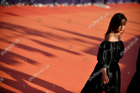 French actress and Revelation Jury members Alice Belaidi arrives on the red carpet prior to the premiere of 'Cuban Network' during the 45th Deauville American Film Festival, in Deauville, France, 14 September 2019. The festival runs from 06 to 15 September 2019.