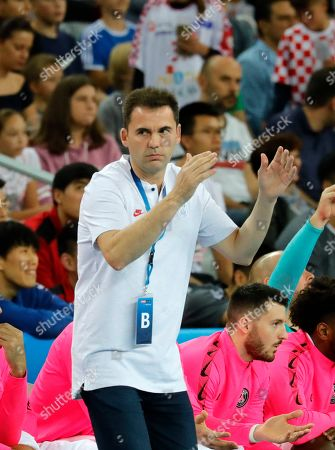 Head Coach Raul Gonzalez of  Paris Saint-Germain Handball gestures during the EHF Handball Champions League match RK PPD Zagreb vs Paris Saint-Germain in Zagreb, Croatia, 14 September 2019.