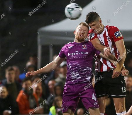 Derry City vs Dundalk. Derry's Eoin Toal and Dundalk's Sean Hoare